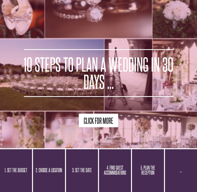 10 Steps To Plan A Wedding In 30 Days ... Wedding