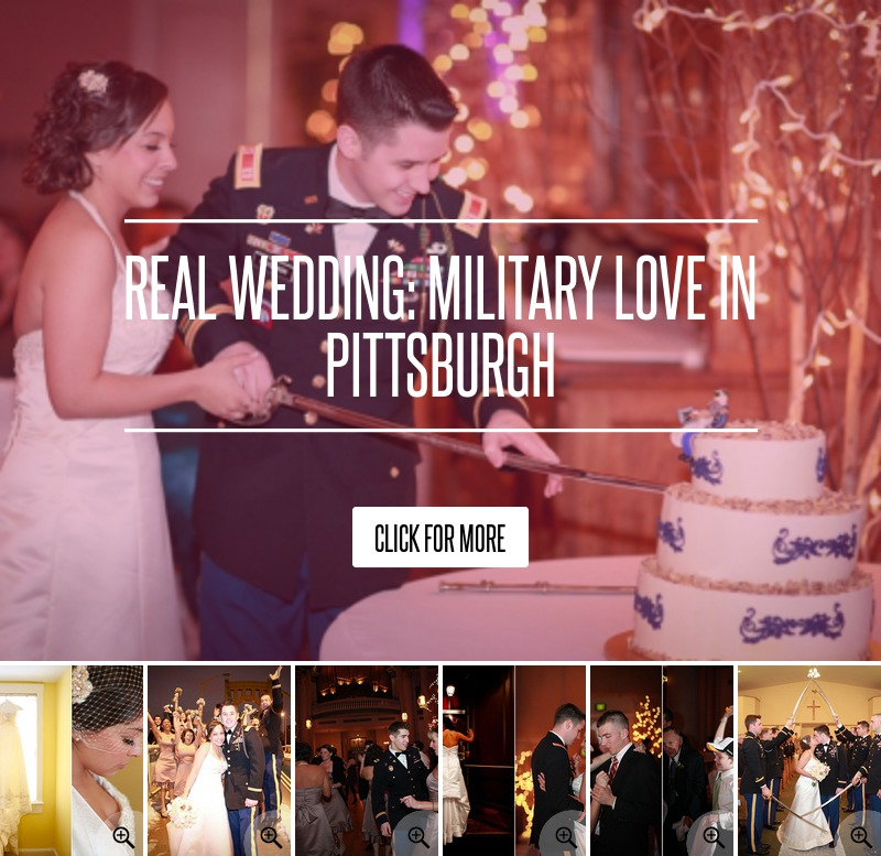 Real Wedding: Military Love In Pittsburgh Wedding