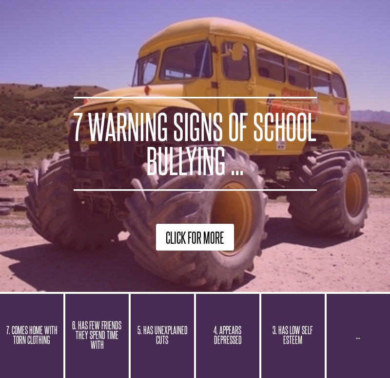 7 Warning Signs Of School Bullying ... Parenting