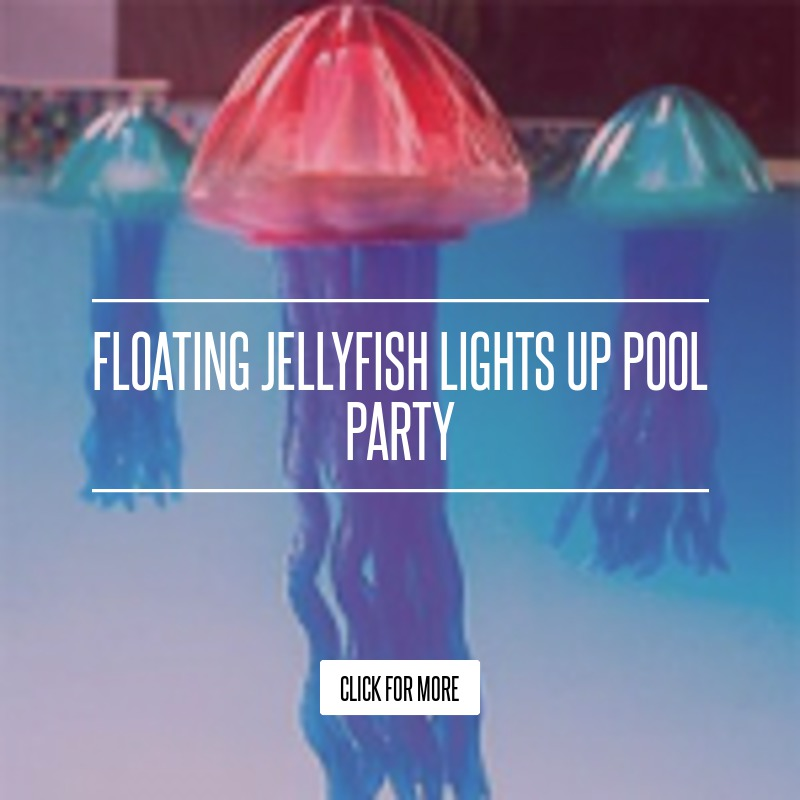 Floating Jellyfish Lights Up Pool Party Lifestyle