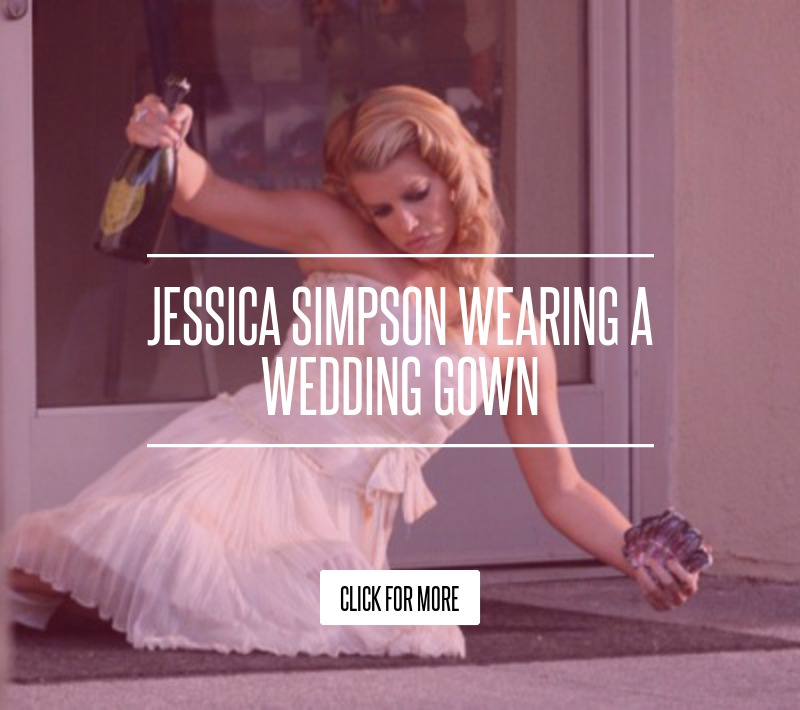 Jessica Simpson Wedding Gown: Jessica Simpson Wearing A Wedding Gown Fashion