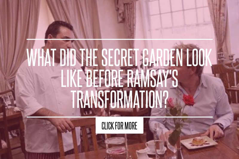 What did the secret garden look like before ramsay 39 s transformation The secret garden kitchen nightmares