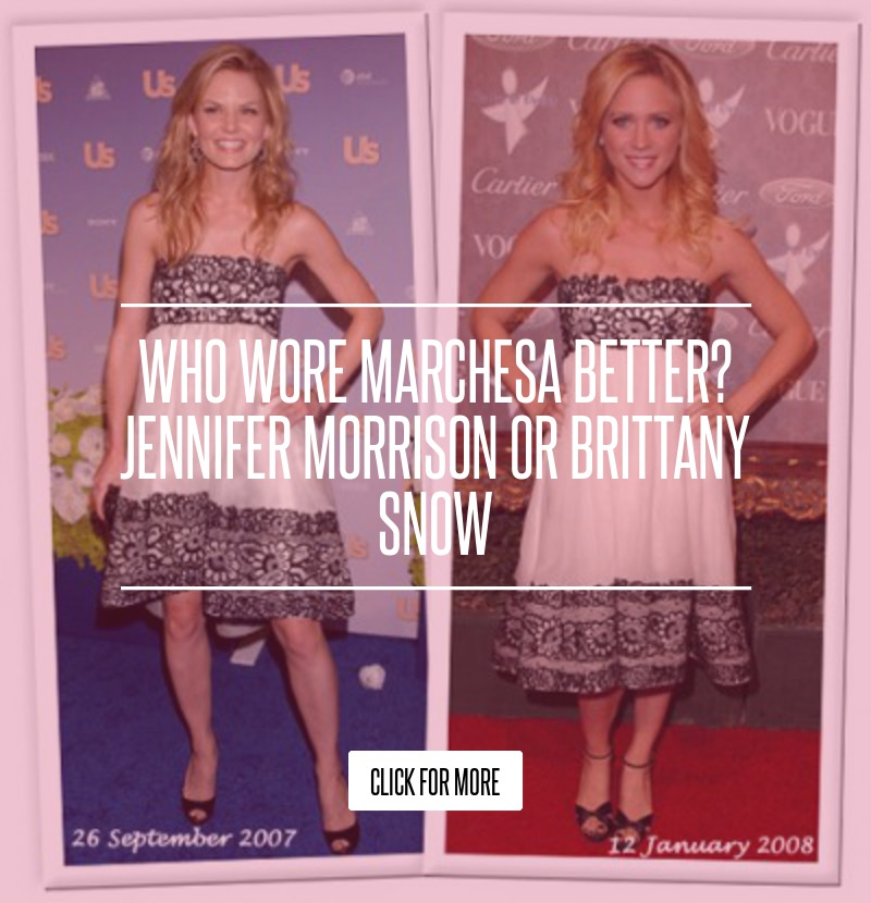 Who Wore Marchesa Better? Jennifer Morrison or Brittany Snow