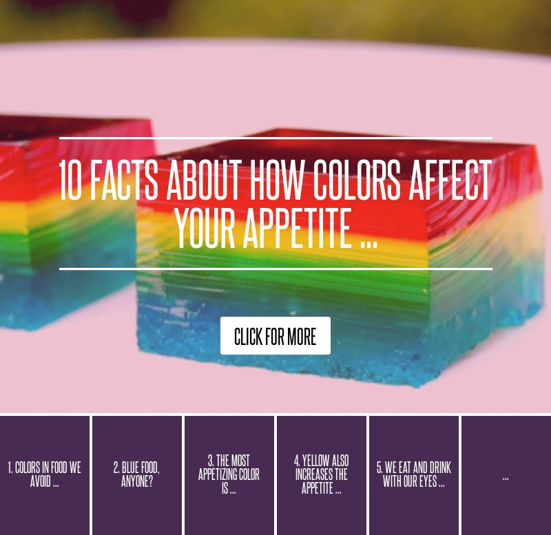 Which color is considered to be an appetite suppressant for 10 interesting facts about interior design