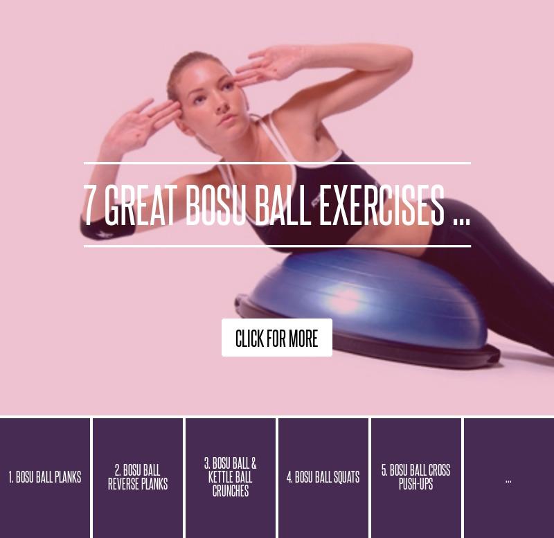 Bosu Ball Side Plank: 7 Great Bosu Ball Exercises ... → 💊 Health