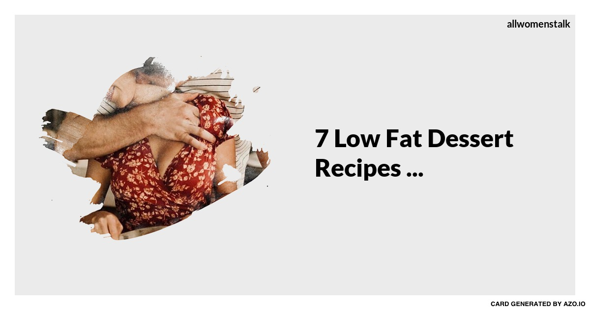 How To Make A Low Fat Cake