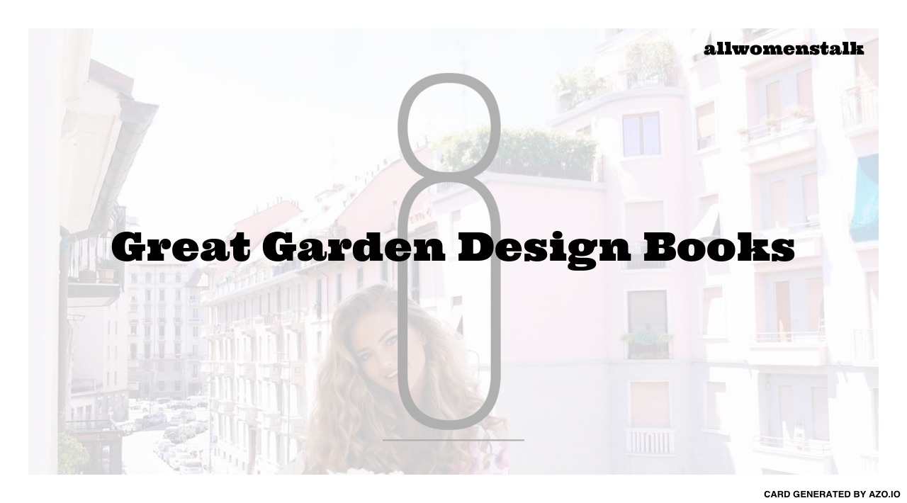 8 great garden design books lifestyle for Landscape design books