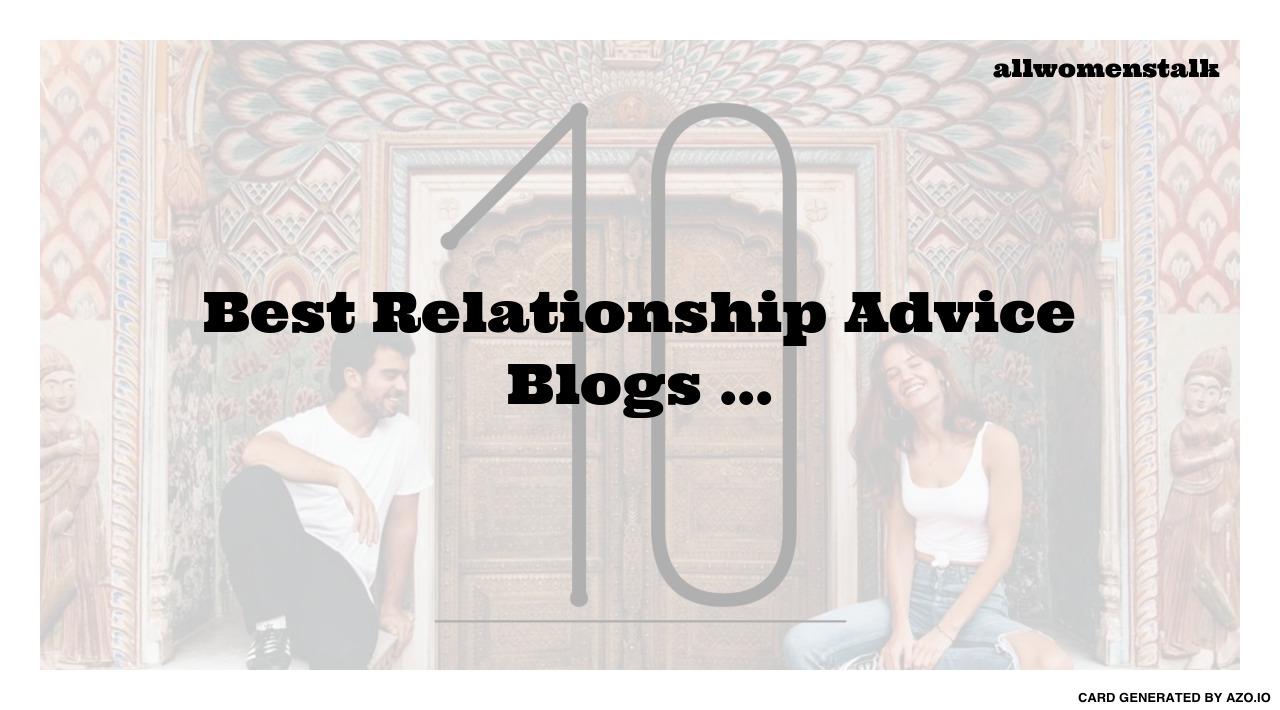 Top 75 Relationship Blogs & Websites in