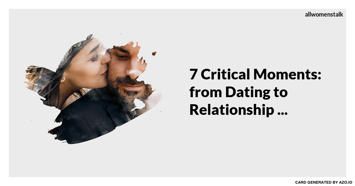 From dating to a relationship