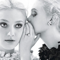 The Fabulous Fanning Sisters for W Magazine...