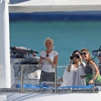 13 Photos of Kim and Kourtney on Their Boat...