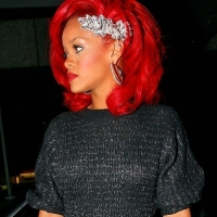 6 Photos of Rihanna Paints the Town Red ...