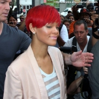 2 Photos of Rihanna Heads to Work ...