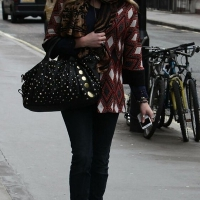 4 Photos of Fearne in a Harlequin Jacket...