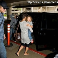 4 Photos of Halle, Nahla and Gabriel at LAX ...