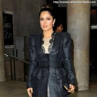 5 Photos of Salma Arrives for McQueen ...