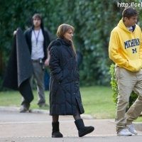 7 Photos of Portman & Kutcher on Set ...