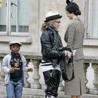 8 Photos of Madonna's Stylish Children Pay a Visit ...