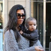 4 Photos of Kourtney and Scott out with Mason ...