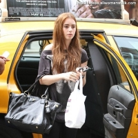 4 Photos of Lily Collins at the Bowery ...