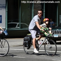 11 Photos of Naomi, Liev and Sons Go for a Ride ...