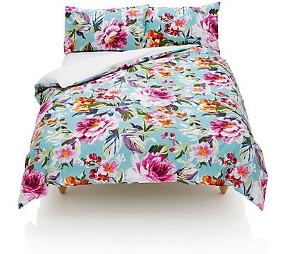 marks and spencer summer floral duvet set 7 pretty. Black Bedroom Furniture Sets. Home Design Ideas