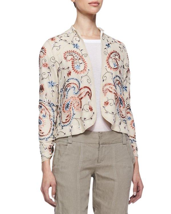 Alice + Olivia Embroidered Jacket