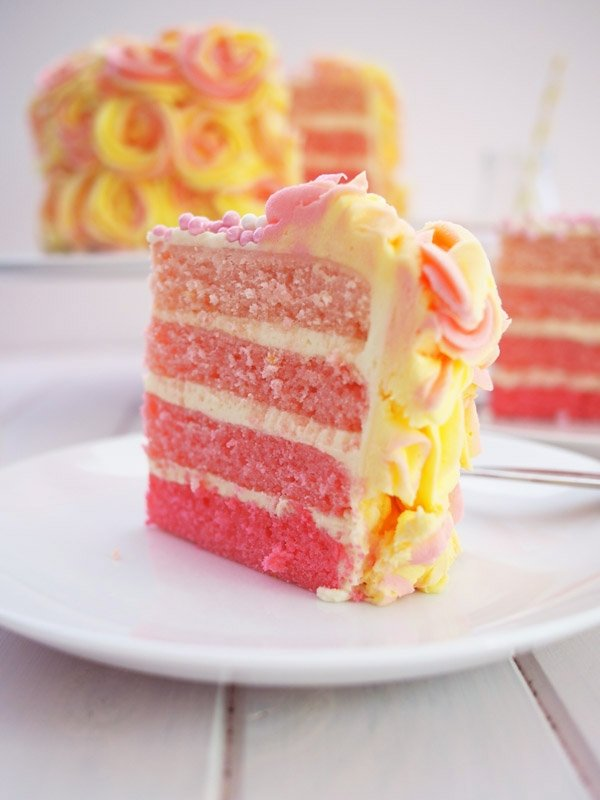 Paula Deen Pink Lemonade Cake