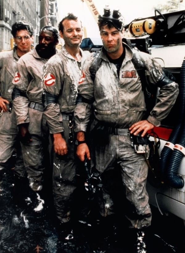 Dr. Raymond Stantz, Dr. Egon Spengler and Louis Tully in Ghostbusters