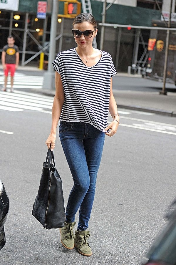 Miranda kerr street style jeans