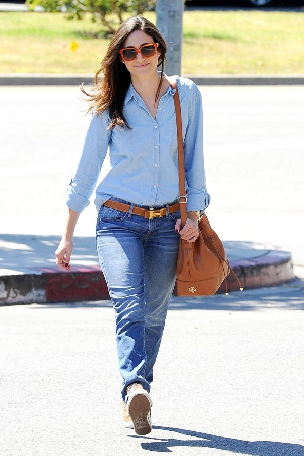 Casual chambray denim dresses for