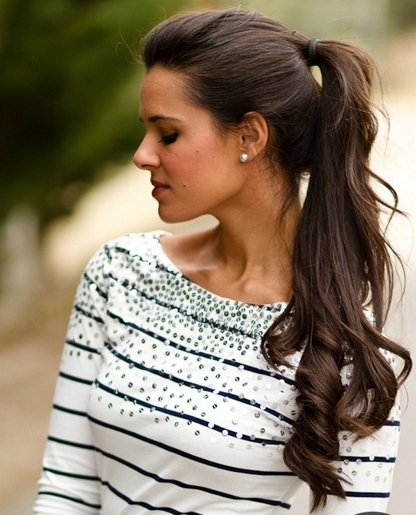 Fabulous Pinned High And Curled 11 Ways To Wear A Ponytail So You Can Hairstyle Inspiration Daily Dogsangcom