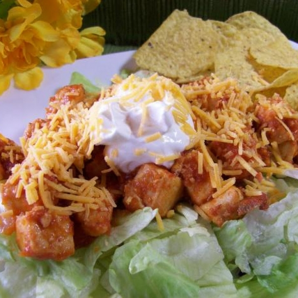 Easy Chicken Taco Salad for Two