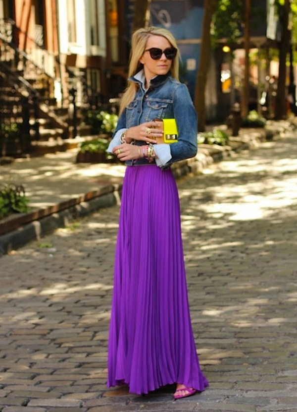 with a maxi skirt 7 fabulous ways to wear a denim jacket