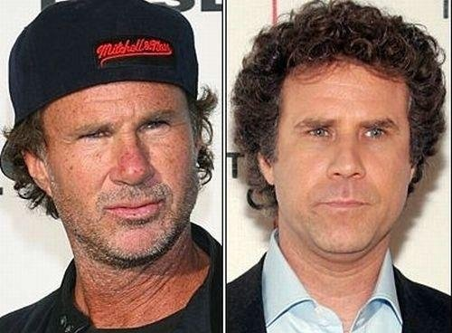 Will Ferrell and Chad Smith- Celebrities Who Look Alike