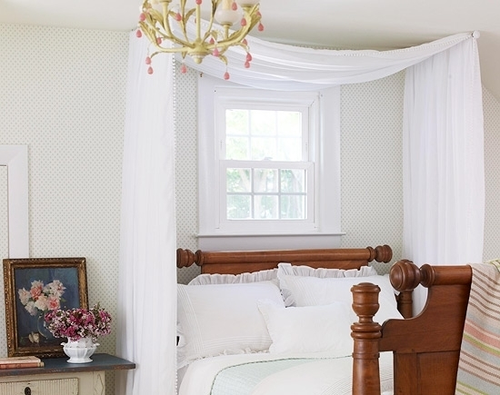 diy curtain rod bed canopy www imgarcade com online