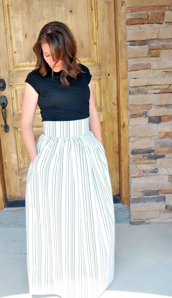 High Waist - 13 Sweet DIY Maxi Skirts to Sew ... → 🍹 Lifestyle