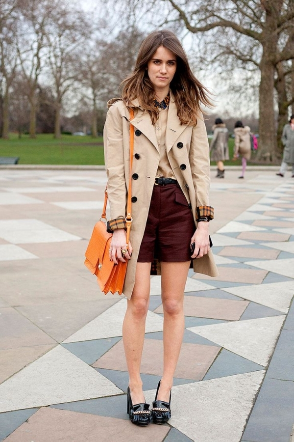 Classic Trench Coat and Shorts