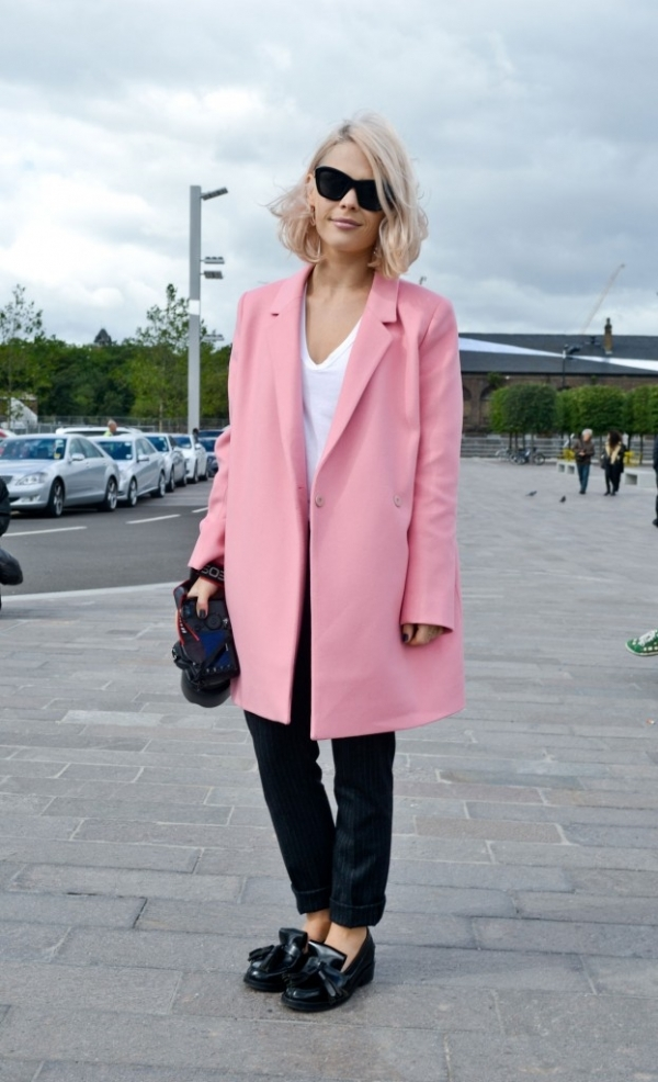 Candy Pink Coat - 9 Street Style Ways to Wear Pink Coats for Fall…