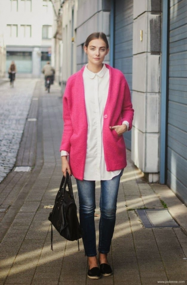 Hot Pink Coat - 9 Street Style Ways to Wear Pink Coats for Fall…