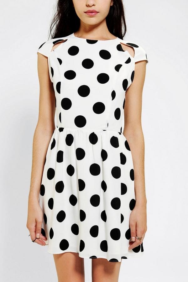 Urban Outfitters DV by Dolce Vita Alishia Polka Dot Dress