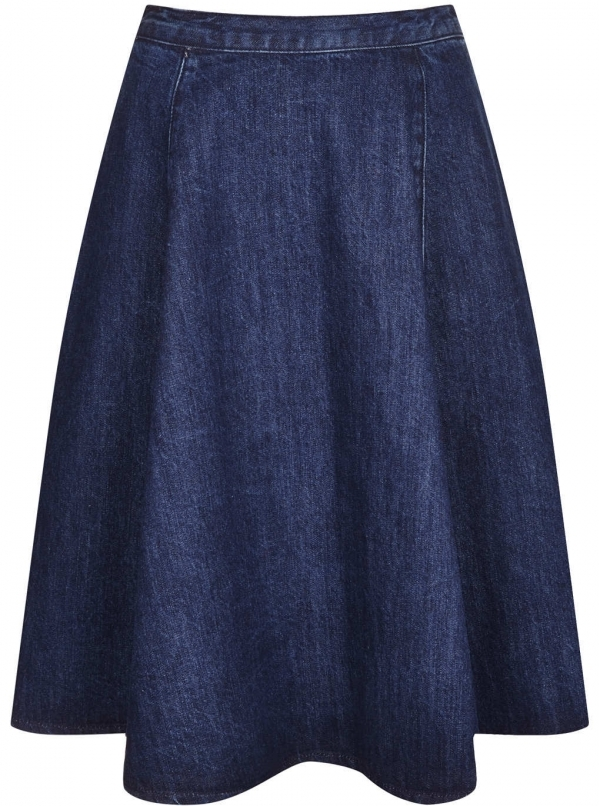 Denim Midi Skirt - 7 Full Midi Skirts That Will Have You Working…