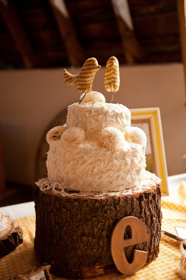 Up in the Trees Rustic Wedding Cake