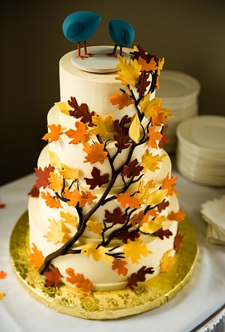 15 rustic leaf wedding cake 23 rustic wedding cakes to complement
