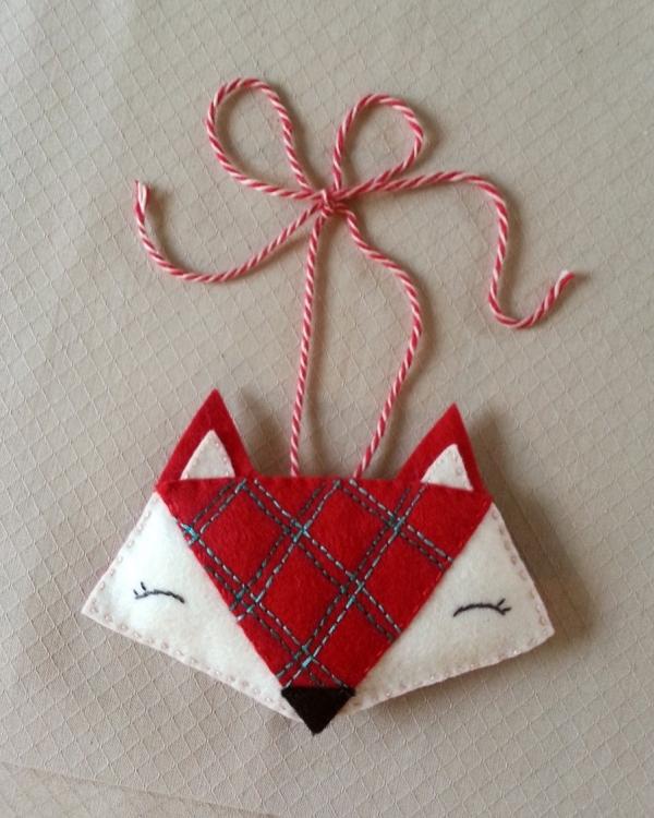 Festive Fox Ornament