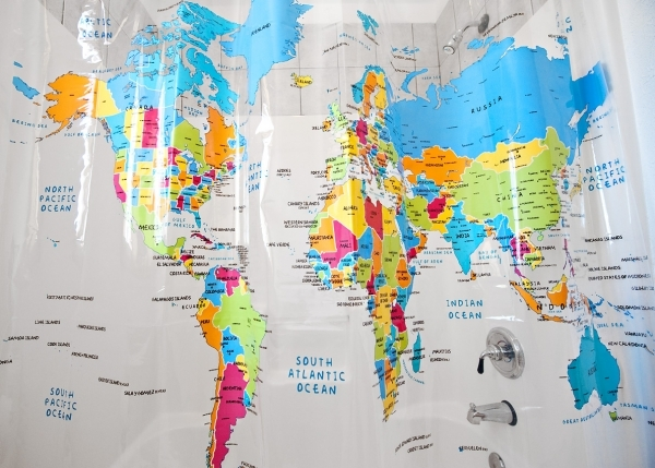 How To Hang Swag Curtains World Atlas Shower Curtain