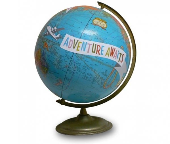 Adventure Awaits Globe 7 Globe Inspired Home Decor To