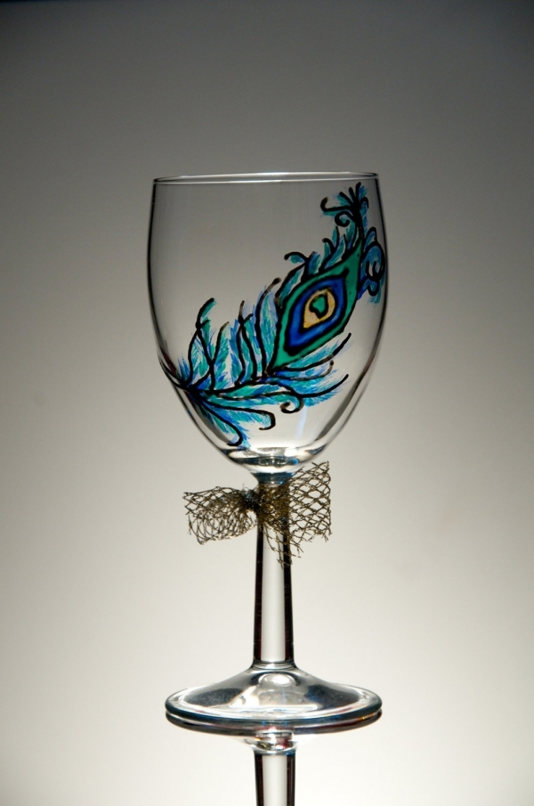 decorative wine glasses - Wine Glass Design Ideas