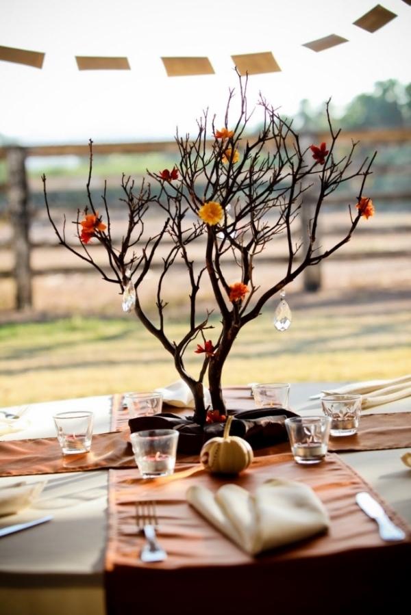 21 rustic wedding centerpiece ideas for Twig centerpieces for weddings