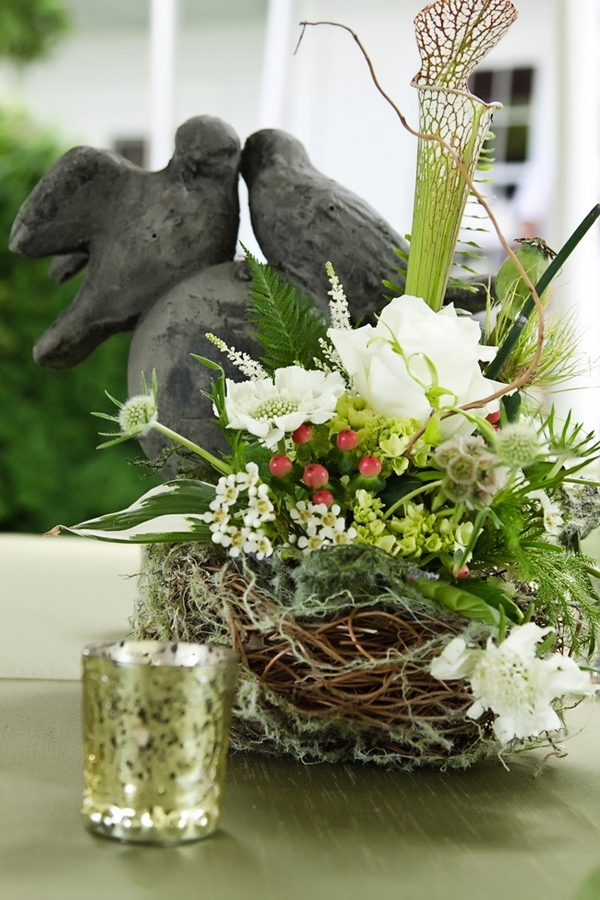 Rustic Floral Bird's Nest
